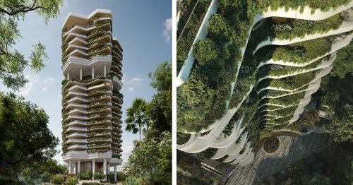 Lush Vertical Garden Tower Will Bring City Dwellers Closer to Nature