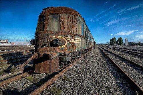 Le Décor Autrefois Luxueux d'un Train de l'Orient-Express