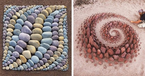 Artist Decorates the Beach With Mesmerizing Arrangements of Rocks