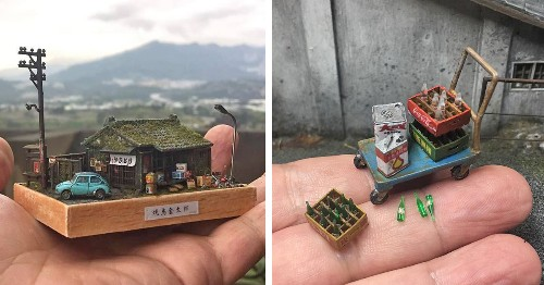 Diorama Artist Crafts Tiny Versions of Real Places To Pay Homage To Beloved Locales