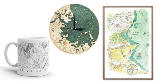 13 Creative Map Gifts That Commemorate the Special Places People Love