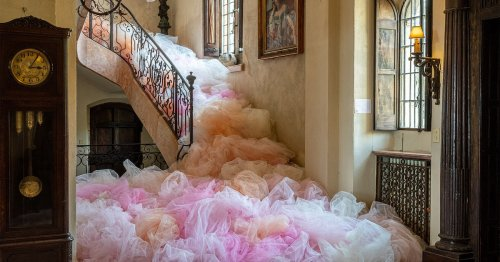 Beautiful Billowing Tulle Floods Unexpected Spaces With Feminine Power