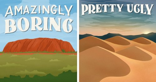 Hilarious Travel Posters for National Parks Inspired by Their Bad 1-Star Reviews