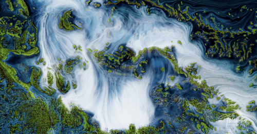 Enchanting Short Film Uses Pigments and Inks To Mimic Earth's Breathtaking Landscapes