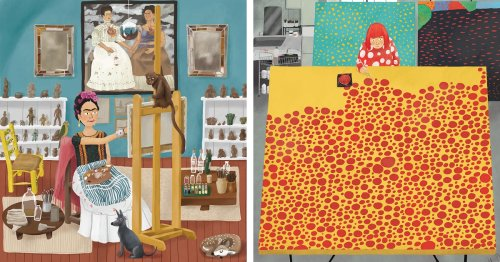 Illustrations Reveal How Famous Artists Create Masterpieces in Very Different Studios [Interview]