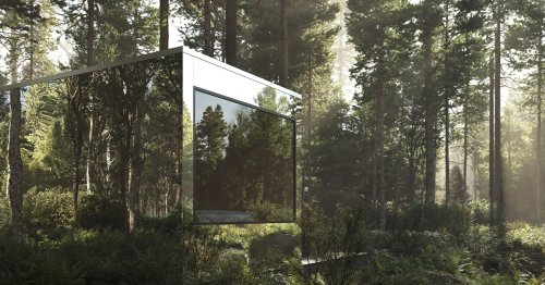Arcana Mirrored Cabins Seem To Disappear Into the Surrounding Forests