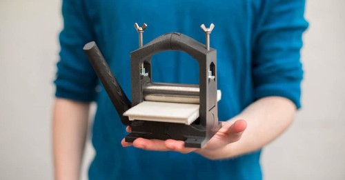 Designer Creates 3D-Printed Press That Allows Anyone to Print Art From Home