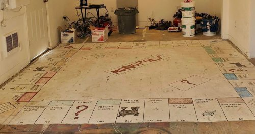 Homeowners Remove Old Flooring and Discover Giant Hand-Painted Monopoly Board Underneath