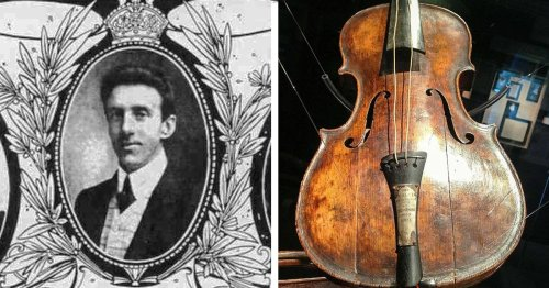 Discovery of Violin Belonging to Band Leader of the Titanic Resurfaces His Tragic Love Story