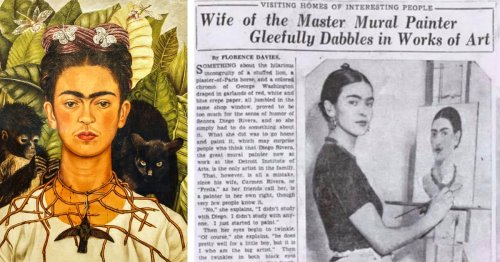 "1933 Article Refers to the Legendary Frida Kahlo as the ""Wife of a Master Mural Painter"""