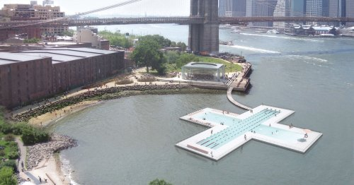 NYC Unveils Floating Swimming Pool To Clean 600,000 Gallons of Polluted Water Every Day