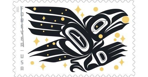 First U.S. Stamp by Alaska Native Designer Tells a Spectacular Tale of Tlingit Lore