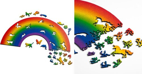 Make Your Own Magical Rainbow When You Complete This Colorful Jigsaw Puzzle