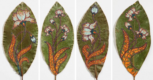 Artist Transforms Dried Leaves Into Tiny Embroidered Masterpieces as a Way To Reconnect With Nature