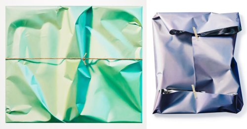 Hyperrealistic Paintings Capture the Curious Beauty of Clumsily Wrapped Packages