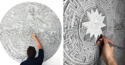 Mesmerizing Architecture Drawings Look Like Impossible Geometric Mazes