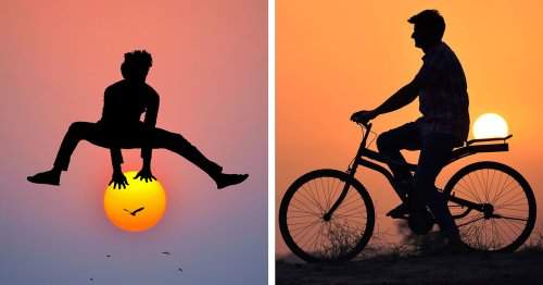 Charming Silhouette Photos Use the Sun To Create Playful Images of Friendship and Adventure
