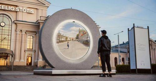 Portals Installed in Lithuania and Poland Let People See and Interact With Each Other in Real Time