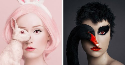 Animals Share an Eye With Artist in Her Series of Surreal Self Portraits