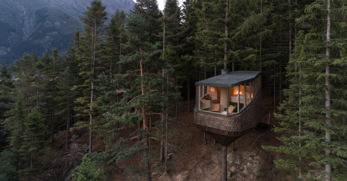 Floating 'Woodnest' Cabins Are Tiny Self-Supported Treehouses in the Norwegian Forest