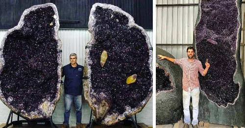 These Gigantic Amethyst Geodes Excavated in Uruguay Stand 22 Feet Tall