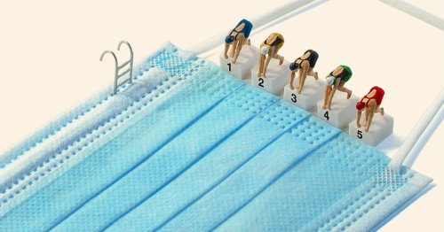 Artist Creates Miniature 'Tokyo Olympic Games' Scenes Using Face Masks and Figurines