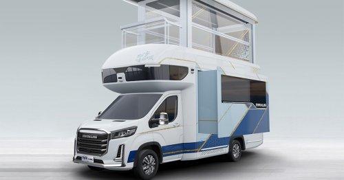 This Double-Decker Luxury Camper Van Has a Pop-Up Second Floor With an Elevator Built In
