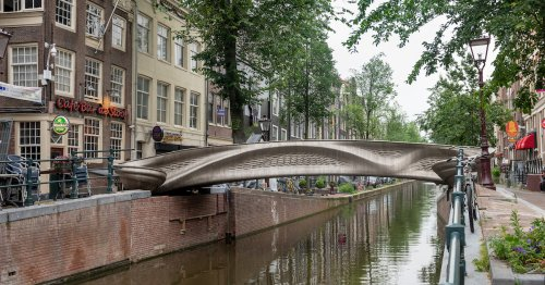 The World's First 3D-Printed Steel Bridge Opens in Amsterdam