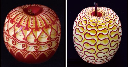 Artist Hand-Carves Unbelievable Designs and Symmetrical Patterns Into Food