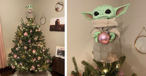 People Are Using Baby Yoda as a Christmas Tree Topper