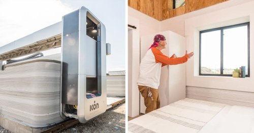 Man Previously Experiencing Homelessness Is the First To Live in a 3D-Printed Tiny Home