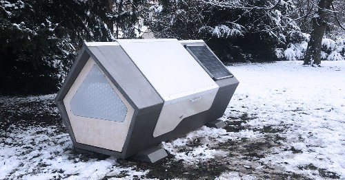 Germany Installs Sleep Pods for People Experiencing Homelessness To Stay Warm During Cold Winter Nights