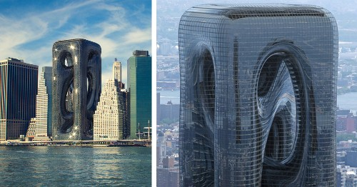 Architects Design Twisting Tower Inspired by Muscle Fibers for NYC Skyline