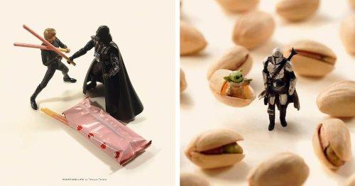 Artist Arranges Miniature 'Star Wars' Scenes Using Ordinary Everyday Items