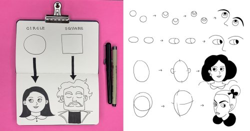 Perfect Drawing Cartoon People With the Help of Simple Geometric Shapes