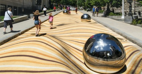 This Flat Street in Montreal Is a Visual Playground That Looks Like Undulating Sand Dunes