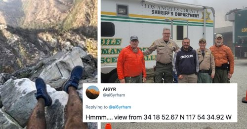 Missing Hiker Rescued After Man on Twitter Found His Location From a Photo of His Feet