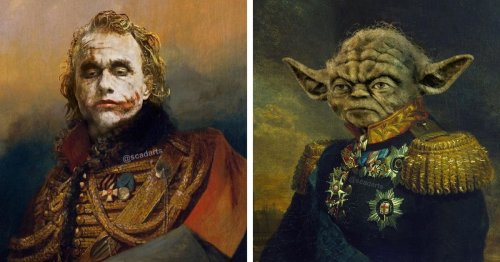 Artist Seamlessly Places Beloved Pop Culture Icons Into Old Military Paintings