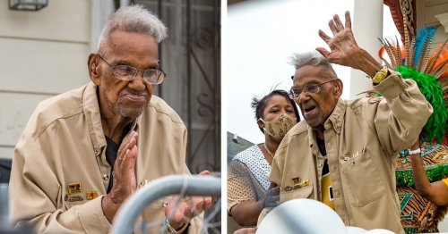 Le Plus Vieux Vétéran Américain De La Seconde Guerre Mondiale Célèbre Son 112e Anniversaire À La Nouvelle-Orléans