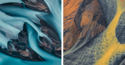 Exquisite Aerial Photos Highlight the Varied Hues of the Icelandic Landscape
