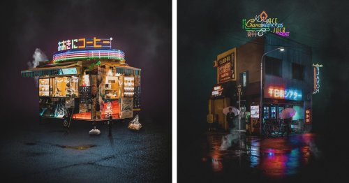Alluring Neon-Night Photography of Osaka Pushes the Boundaries of Reality