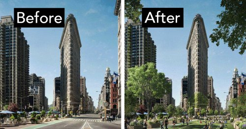 """Designers Use """"Guerilla Greening"""" to Imagine Major Cities as Vibrant Urban Forests"""