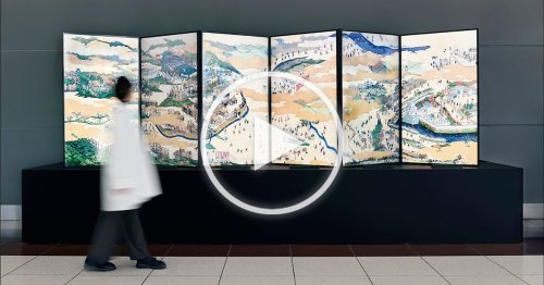 Artist Turns an Ancient Japanese Battle Painting Into an Energetic Animation
