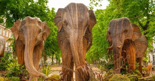 100 Life-Sized Elephant Sculptures Take Over London in a Global Migration for Conservation