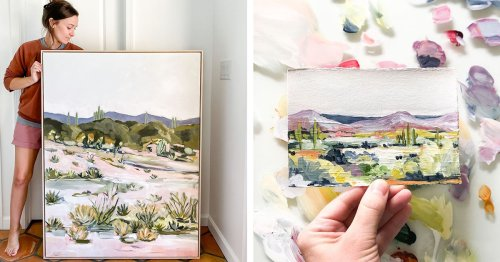 Abstract Painter Captures the Effortless Beauty of the Tranquil Arizona Desert [Interview]