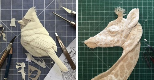 This Artist Has Created a Paper Menagerie of Delicate Animal Portraits for Almost 40 Years