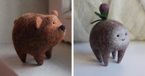 Textile Artist Creates Playful Felt Critters That Will Put a Smile On Anyone's Face
