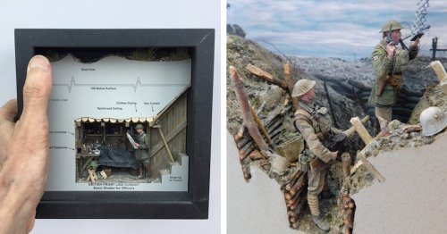 Incredible Scale Models Show the Intricacy of World War I Trench Warfare
