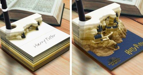 Harry Potter Memo Pad Reveals Hogwarts Castle as You Tear Away Notes
