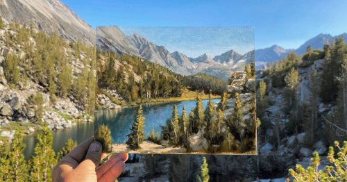 Plein Air Paintings Seamlessly Blend In With the Real Landscapes That Inspired Them